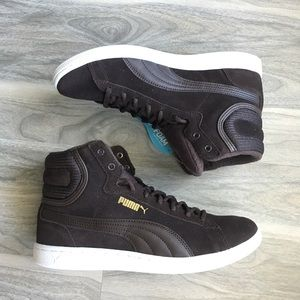 Puma hitop brown sneakers 8.5 nwt